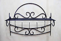Вешалка №21 на стену кованая, фото 1