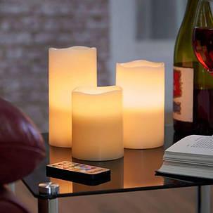 Светодиодные свечи LED Scented Candles набор 3шт, фото 2