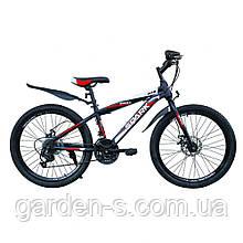 Велосипед Spark 24`` SKILL, рама - Сталь 13, Черный с красным, Да