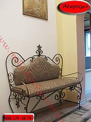 """Кований диван """"Маркіз"""" з м'яким сидінням"""