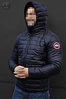 Весенние Мужские Куртки Canada Темно-Синяя Куртки Мужские Теплые Брендовые