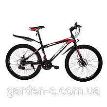 Велосипед Spark 26`` SHADOW, рама - Сталь 18, Черный с красным, Да