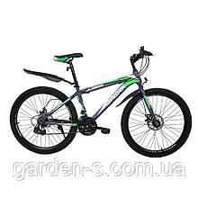Велосипед Spark 26`` SHADOW, рама - Сталь 18, Нет (полностью разобраный), Серый с зеленым