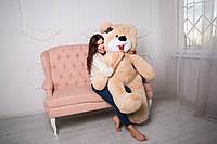 Плюшевый Мишка 180 см с Язычком Цвет Латте от Производителя Медведь Большой Плюшевый Подарок