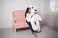 Плюшевый Мишка 180 см с Язычком Белый Медведь от Производителя Большой Плюшевый Подарок