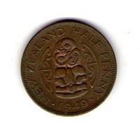 Новая Зеландия пол пенни 1949 год Георг VI №26