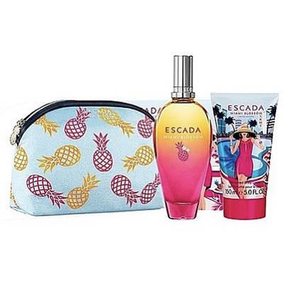 Подарунковий жіночий набір ESCADA Miami Blossom туалетна вода 50ml + лосьйон 50ml, фруктовий аромат ОРИГІНАЛ