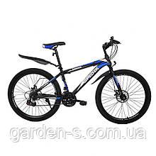 Велосипед Spark 26`` SHADOW, рама - Сталь 15, Черный с синим, Да