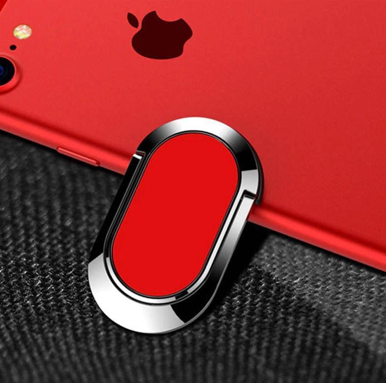 Держатель кольцо для телефона (попсокет / popsocket / подставка) Metall Rotating Bracket красный