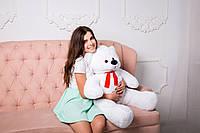 Подарок Девушке - Плюшевый Мишка - Малыш 100 см (Белый цвет) Мишка Качественный Плюшевый