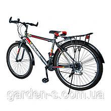 Велосипед Spark 26`` SPACE, рама - Сталь 15, Серый с красным, Да