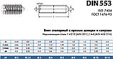DIN 553 (ISO 7434 ; ГОСТ 1476-93) : нержавеющий винт установочный с острым концом и прямым шлицем, фото 4