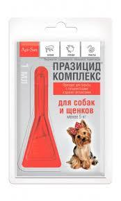 Празицид-копмлекс для собак до 5 кг 1 пипетка Аписан 1 мл