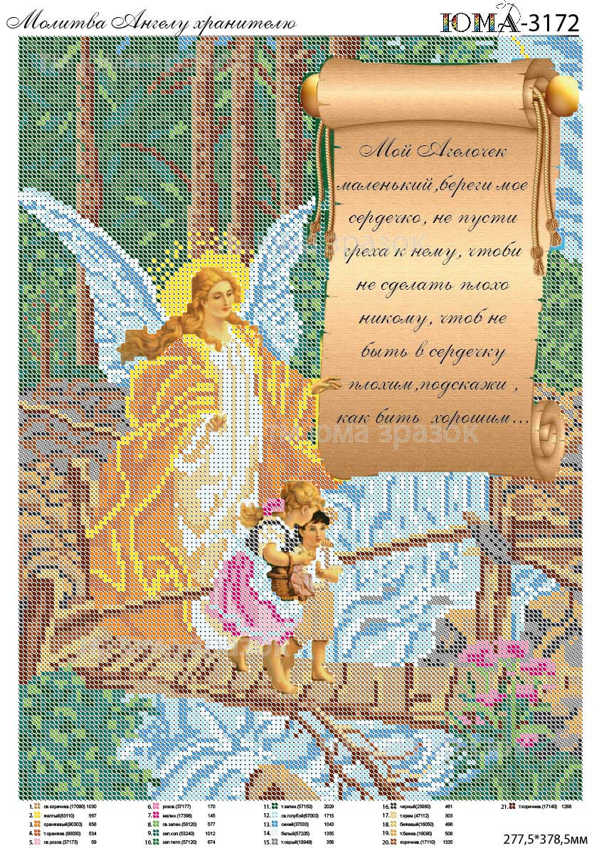 молитва ангелу хранителю схема