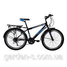 Велосипед Spark 24`` SAIL, рама - Сталь 15, Черный с синим, Да