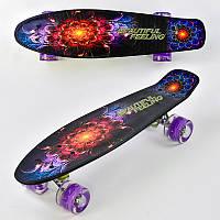 Скейт - Penny Board F 8740 Best Board колеса светятся