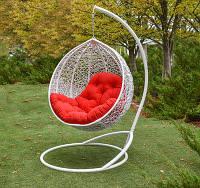Подвесное Кресло Кокон из ротанга Эмилия (искусственный ротанг)