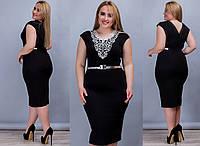 Эксклюзивное женское коктейльное платье чёрного цвета с 48 по 60 размер
