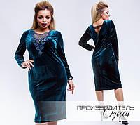 Элегантное женское платье из бархата с 48 по 58 размер