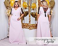 Эффектное вечернее платье в пол батал с 50 по 60 размер