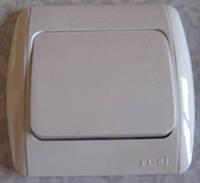 Выключатель ABB EL-Bi ZIRVE Fixline для внутреннего (скрытого) монтажа, крем, Турция