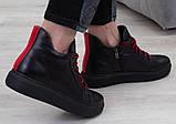Ботинки молодежные спортивные на низком ходу из натуральной кожи от производителя модель БС8010, фото 2