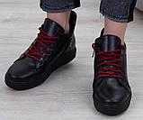 Ботинки молодежные спортивные на низком ходу из натуральной кожи от производителя модель БС8010, фото 3