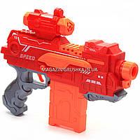 Іграшкова зброя автомат Бластер Fire Storm аналог Нерф NERF, 20 м'яких куль, з мішенню (7056), фото 3