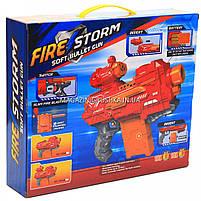 Іграшкова зброя автомат Бластер Fire Storm аналог Нерф NERF, 20 м'яких куль, з мішенню (7056), фото 5