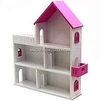 Игрушечный кукольный деревянный домик Мария (розовый). Обустройте домик для кукол, фото 2