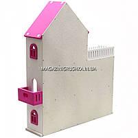 Игрушечный кукольный деревянный домик Мария (розовый). Обустройте домик для кукол, фото 3