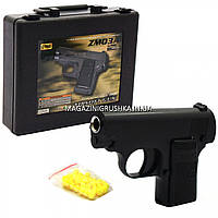 Игрушечный пистолет ZM03A с пульками . Детское оружие с дальностью стрельбы 15-20 м