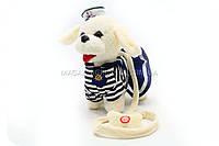 Интерактивная мягкая игрушка «Собачка с поводком» белая 555-118, фото 1