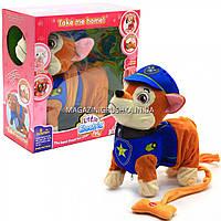 Интерактивная мягкая игрушка «Щенячий патруль. Гонщик Чейз», ходит, виляет хвостом, лает, поет, 26 см (999-13), фото 1