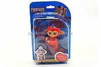 Интерактивная ручная игрушка обезьянка Fingerlings Monkey Красная (аналог) арт.40514, фото 1