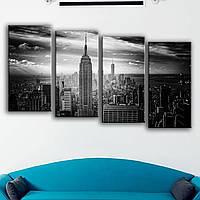 Модульная картина для интерьера - вид на Манхэттен