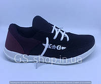 Кросівки жіночі чорні/бордові