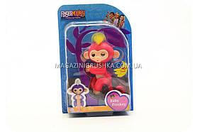 Інтерактивна ручна іграшка мавпочка Fingerlings Monkey Червоний (аналог) арт.708