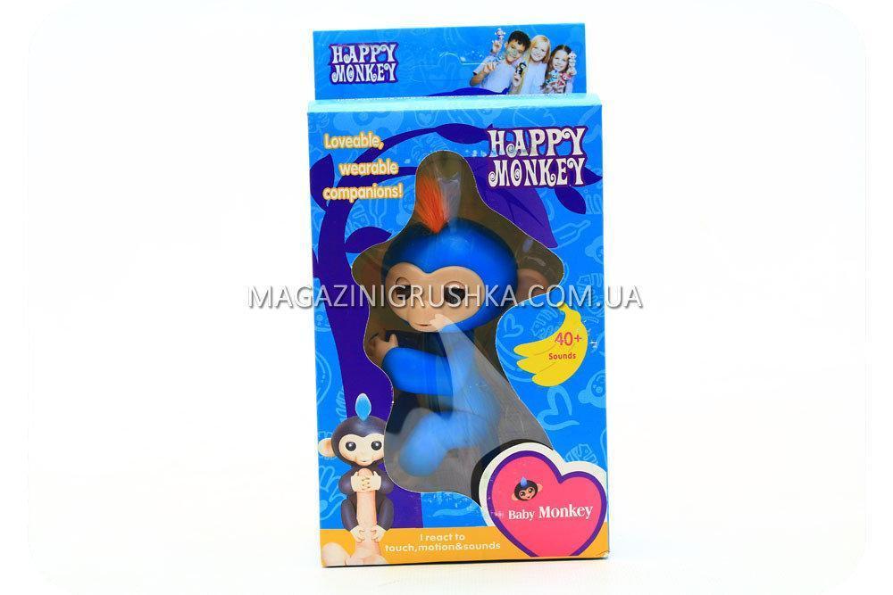 Интерактивная ручная игрушка обезьянка Fingerlings Monkey Синий (аналог) 565659