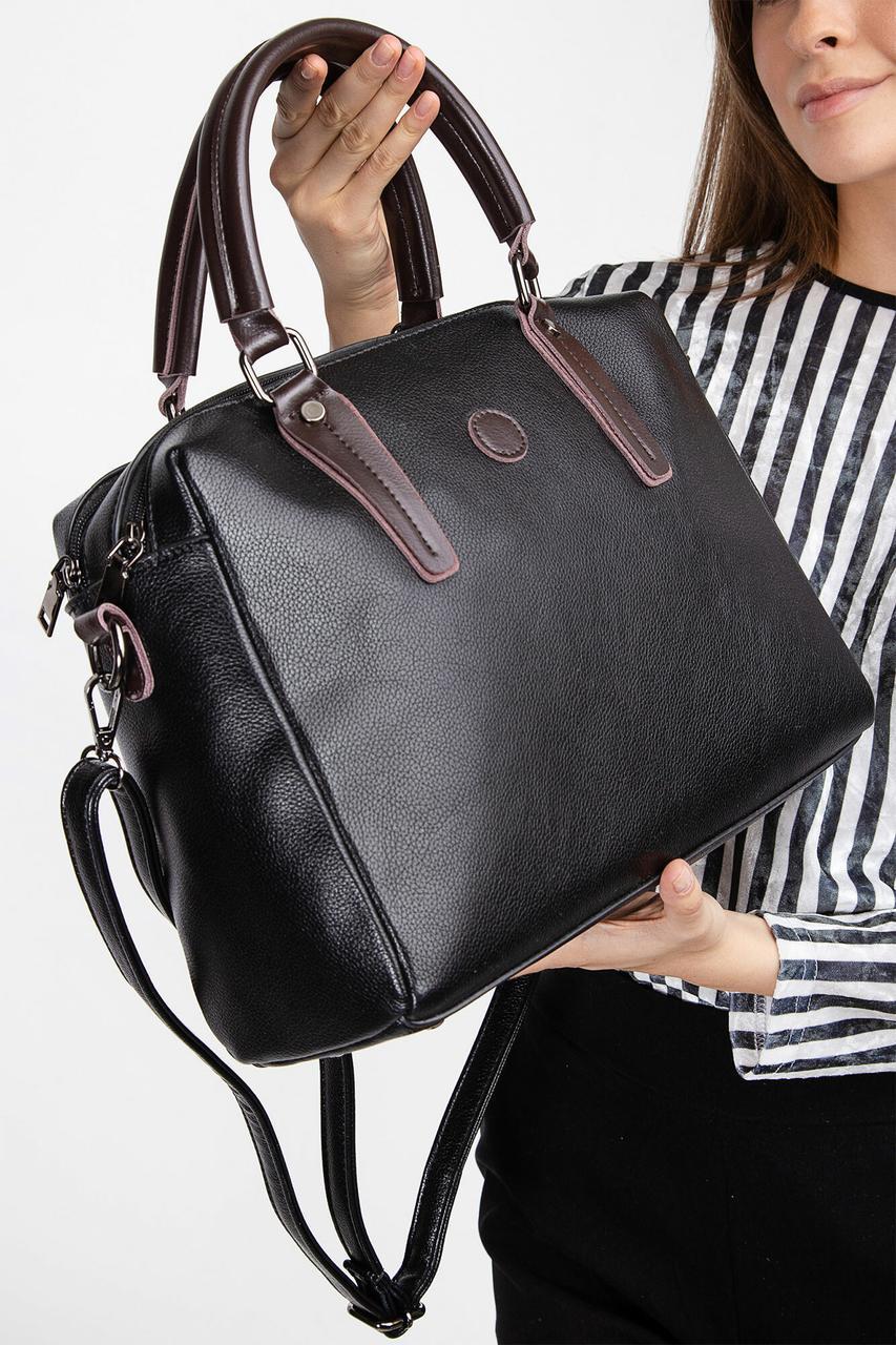Черная сумка саквояж с короткими ручками Бесплатная доставка Justin