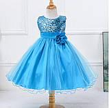Детские нарядные платья с пайетками, фото 3
