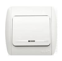 Выключатель ABB EL-Bi ZIRVE Fixline с подсветкой для внутреннего (скрытого) монтажа, белый, Турция