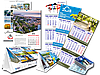 Изготовление настольных календарей с рекламой заказчика, типография Диол-Принт, Одесса