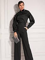 Рубашка классического черного цвета. Женская черная рубашка. Женская модная одежда