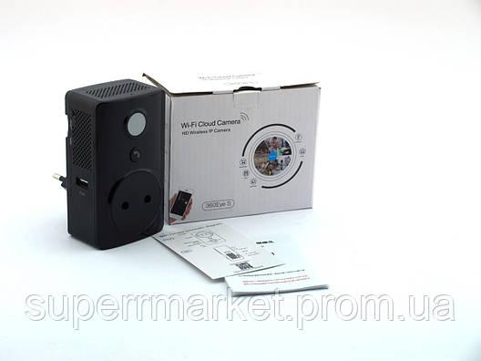 EC59F-S11 Wi-fi ip P2P незаметная камера наблюдения и охраны 360eyes, фото 2
