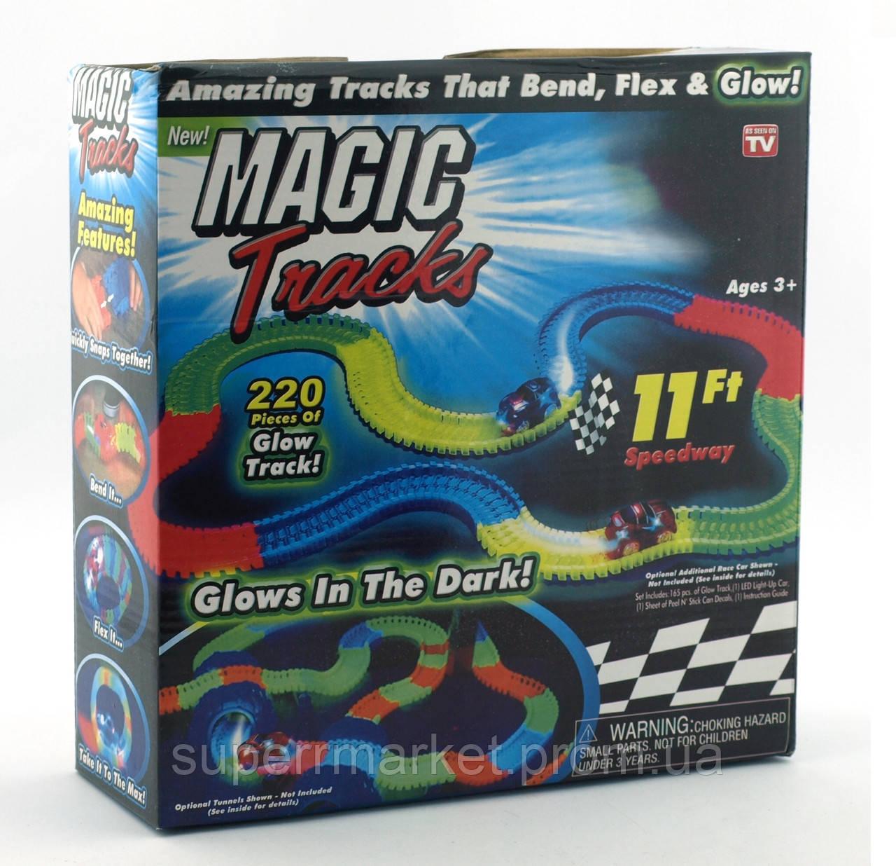 Magic tracks светящаяся дорога 220 деталей, гоночная трасса