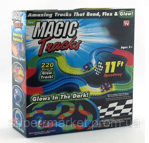 Magic tracks светящаяся дорога 220 деталей, гоночная трасса, фото 2