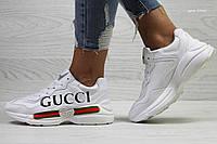 Женские кроссовки в стиле Gucci, белые 37 (23,5 см)