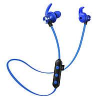 Беспроводные Bluetooth наушники Sport KL1 microSD Синий