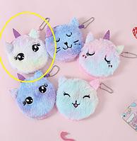 Кошелек для девочки радужный Котик, фото 1
